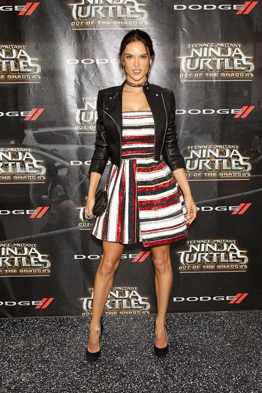 """Alessandra Ambrosio attends the premiere of """"Teenage Mutant Ninja Turtles: Out of the Shadows"""" in New York City on May 22, 2016."""
