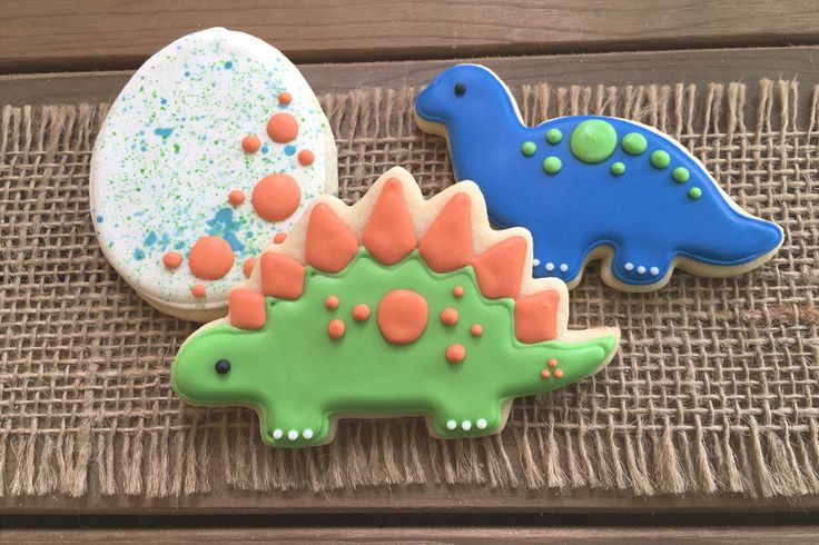 Dinosaur Cookies // Dinosaur Party Favors // Dinosaur Sugar Cookies by GuiltyConfections on Etsy https://www.etsy.com/listing/81815708/dinosaur-cookies-dinosaur-party-favors