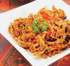 Resep Aneka Ayam: Resep Ayam Suwir Bumbu Cabai