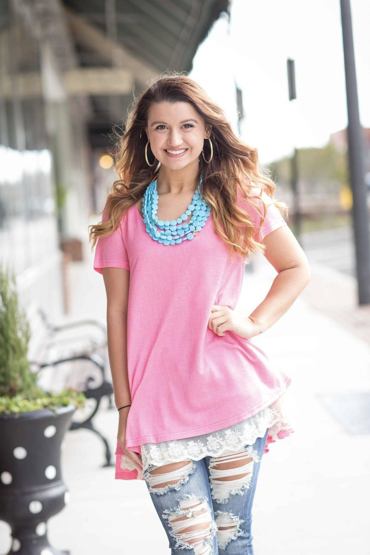 Girls Night Out Top - Neon Pink