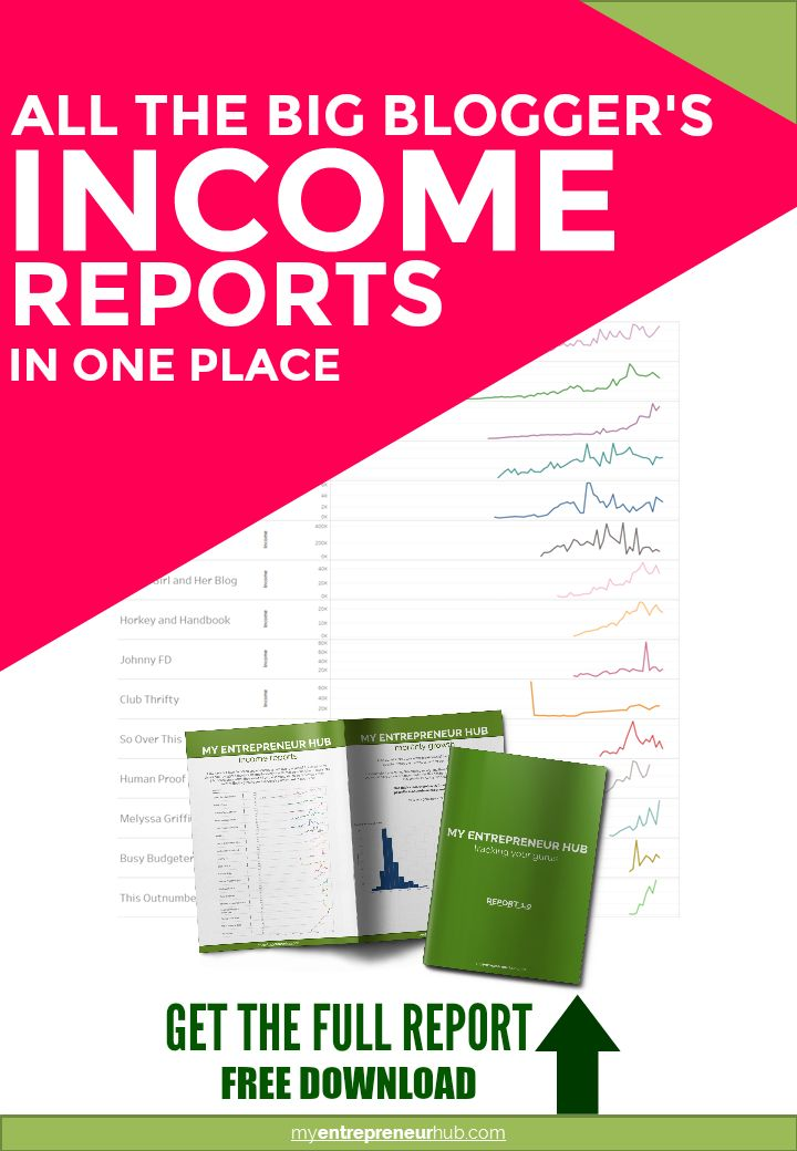 Get all of the big blogger's income reports in one place! Learn how the big online entrepreneurs make money with their blogs.