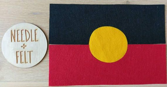Aboriginal Felt Flag