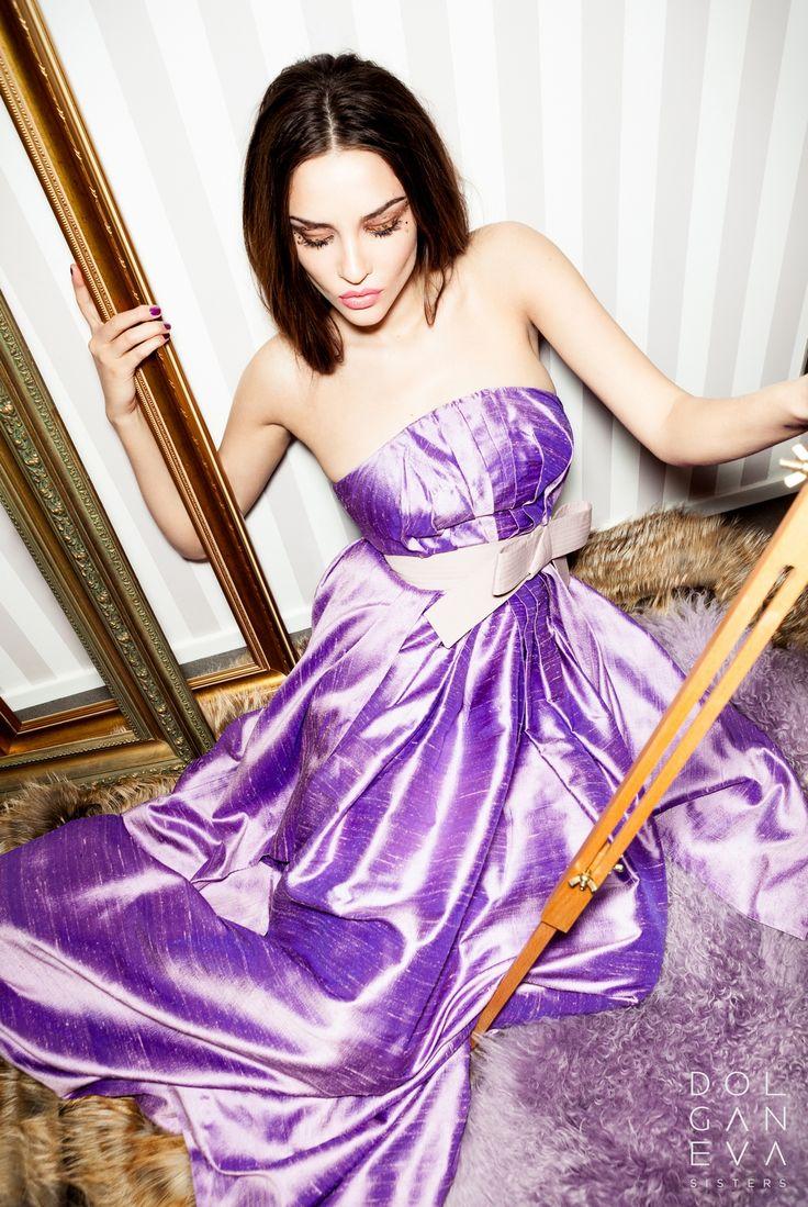 Платье шелк-тусса / хлопок. Dress silk Toussaint / cotton