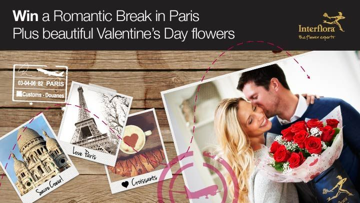 Like Interflora-the Flower Experts on Facebook today for a chance to win in their Valentine's Day competition.