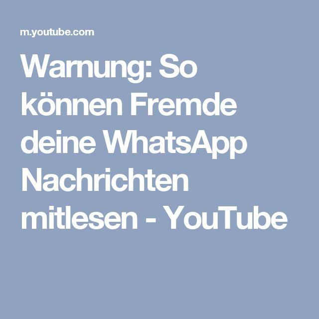 Warnung: So können Fremde deine WhatsApp Nachrichten mitlesen - YouTube