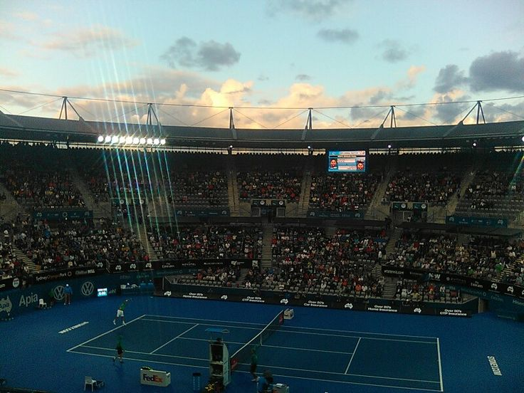 Apia International tennis Men's final fun times.
