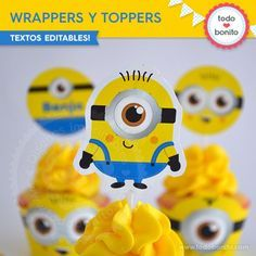 Minions: wrappers y toppers