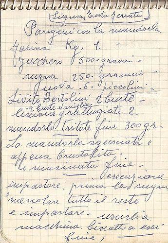 Mia nonna non cucinava moltissimo, ma abbastanza bene, anzi, devo dire che quelle poche cose le faceva in modo eccellente, e così mia mamma....