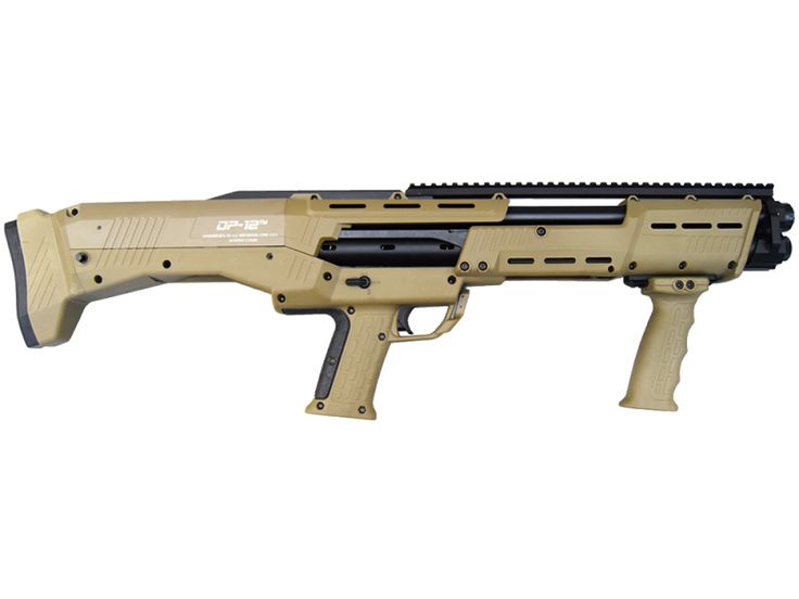 The DP-12 is an AWARD WINNING American made home defense shotgun In Flat Dark Earth Finish. The construction methods of this shotgun give the gun superior quality and reliability. No similar gun on the market compares to the quality and the RAPID fire ability of the DP-12.No costs are spared to provide the American public an ultimate home defense shotgun. This becomes obvious once you put this shotgun in your hands.The sheer firepower of this shotgun is virtually double of any other shotgun…