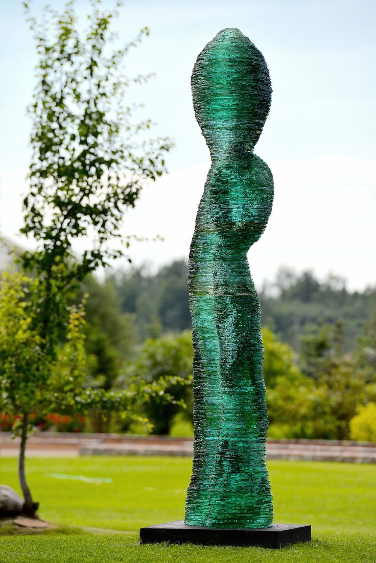 @ernestvitin Layered glass monumental sculpture Pullulare