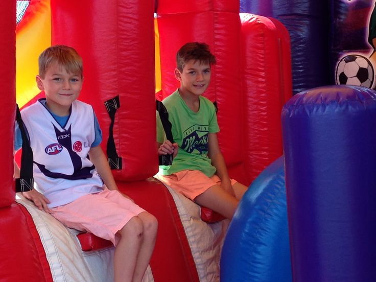 just chillin' in the Sports Interactive bubble jumping castle
