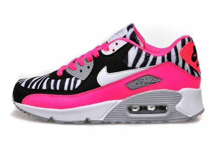 Nike Air Max 90 Print GS Hot Pink Black Silver db51542b75d1