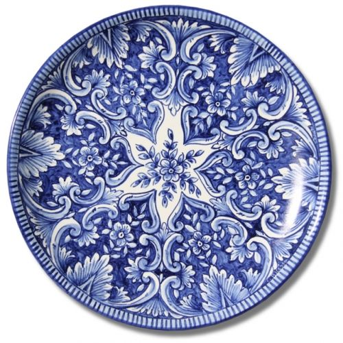 7107 Portuguese Plate Tiles Spanish Antique Majolica Designs XVII XVIII BLUE FLOWERS