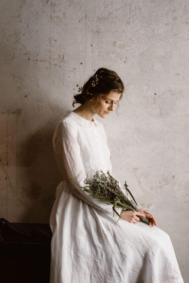 Linen Wedding Dress Dream And Painting Like Linen Wedding Dress Wedding Dress Long Sleeve Classic Wedding Dress