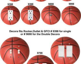 Coloriffic Basketball shaped wall plates FREE SHIPPING Light Switch,Outlet, Decora, cable,blank,double,duplex cover