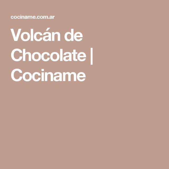 Volcán de Chocolate | Cociname
