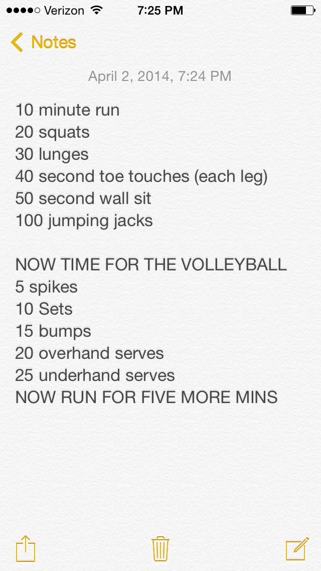 This is my volleyball workout that I do every day