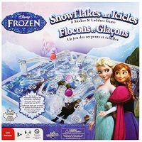 Disney Frozen Snowflakes and Icicles [A Snakes and Ladders Game] The classic game of Snakes and ladders gets a brilliant Disney Frozen twist. Ideal for 2-4 players, this timeless activity comes with everything you need for a great family game. Includes fun 3D gameboard! Newly released Dec 2014.