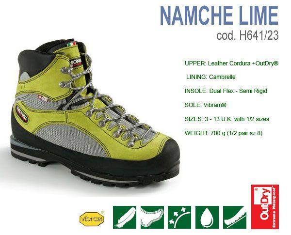 Четирисезонни планински обувки Gronell Namche Lime, леки, дишащи и водоустойчиви
