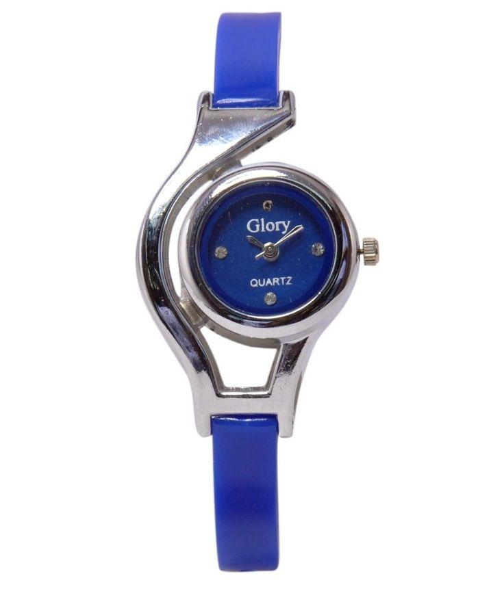 Designer Plain watch Blue color Rs. 150