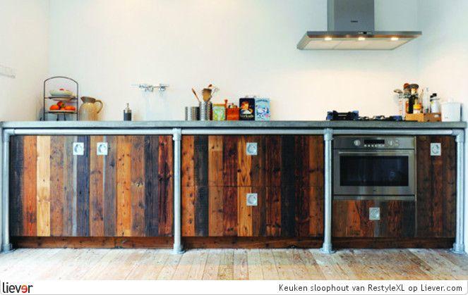 Restylexl keuken sloophout restylexl inbouwapparatuur for Interieur keuken ideeen