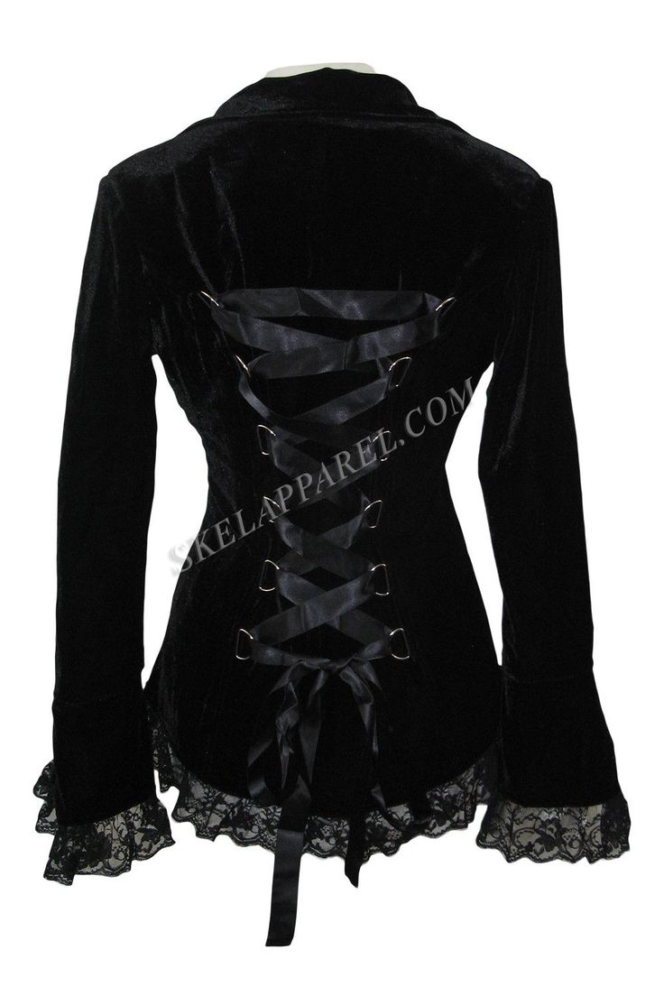 Plus Womens Gothic Victorian Steampunk Black Velvet Corset and Lace Jacket https://www.steampunkartifacts.com/collections/steampunk-glasses