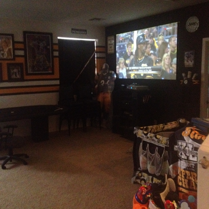 Steelers Man Cave Decor : Steelers man cave watching the pirates steelersnation