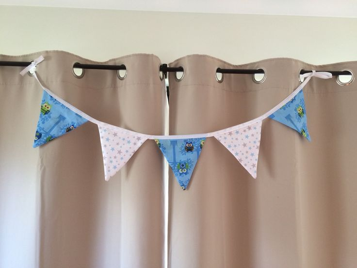Owl Bunting, Boy Nursey Decor, Banner. by QuiltAroundTheClock on Etsy https://www.etsy.com/au/listing/259457036/owl-bunting-boy-nursey-decor-banner
