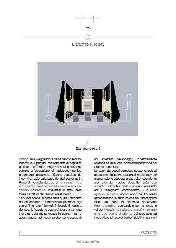 Il salotto in scena - Introduzione - Canovaccio - Onori di sala - Tesi - (Paolo Di Gennaro, 2017.)