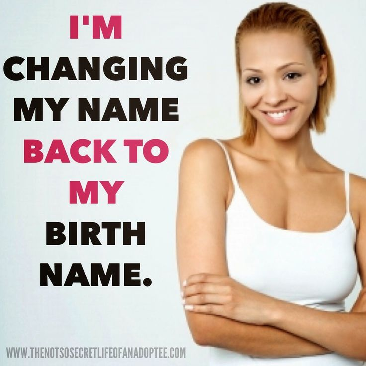 An interview with an adoptee that is changing her name back to her birth  name and