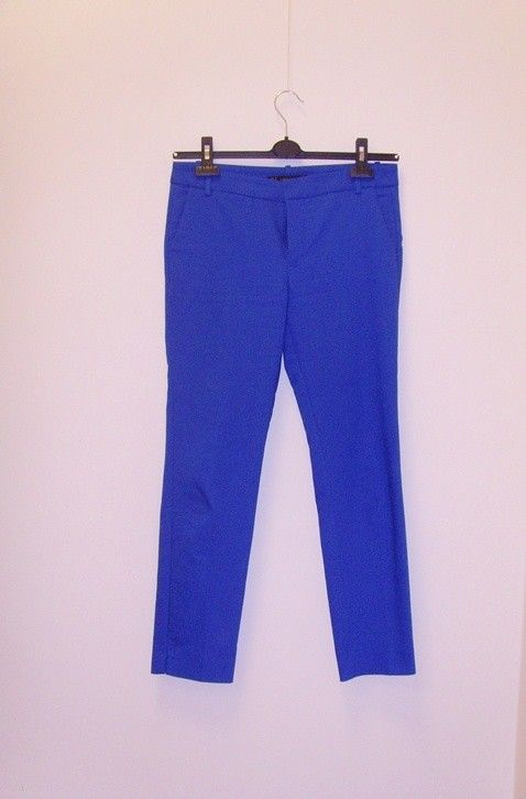 wymiana 80 zł / Zara spodnie materiałowe kobalt kobaltowe wiosna 36