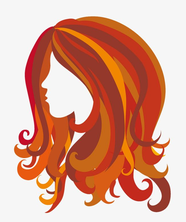 Vector Long Red Hair Styling Long Hair Hair Styling Ladies Hair Png And Vector With Transparent Background For Free Download Red Hair Clipart Long Red Hair Hair Clipart