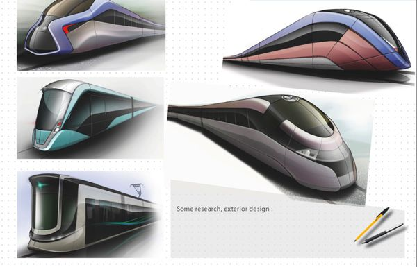 Transportation design by ahmed smaali, via Behance