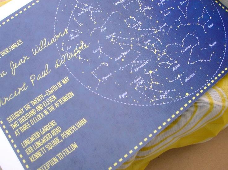 Star Constellation Chart Wedding Invitation Deposit 50 00 Via Etsy