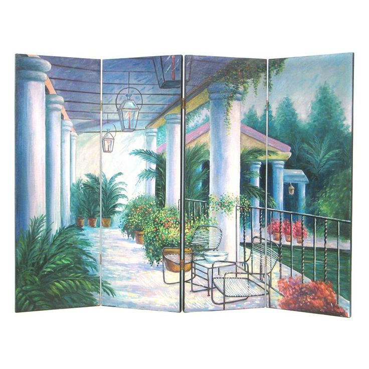 wayborn wall room divider screen outdoor patio from