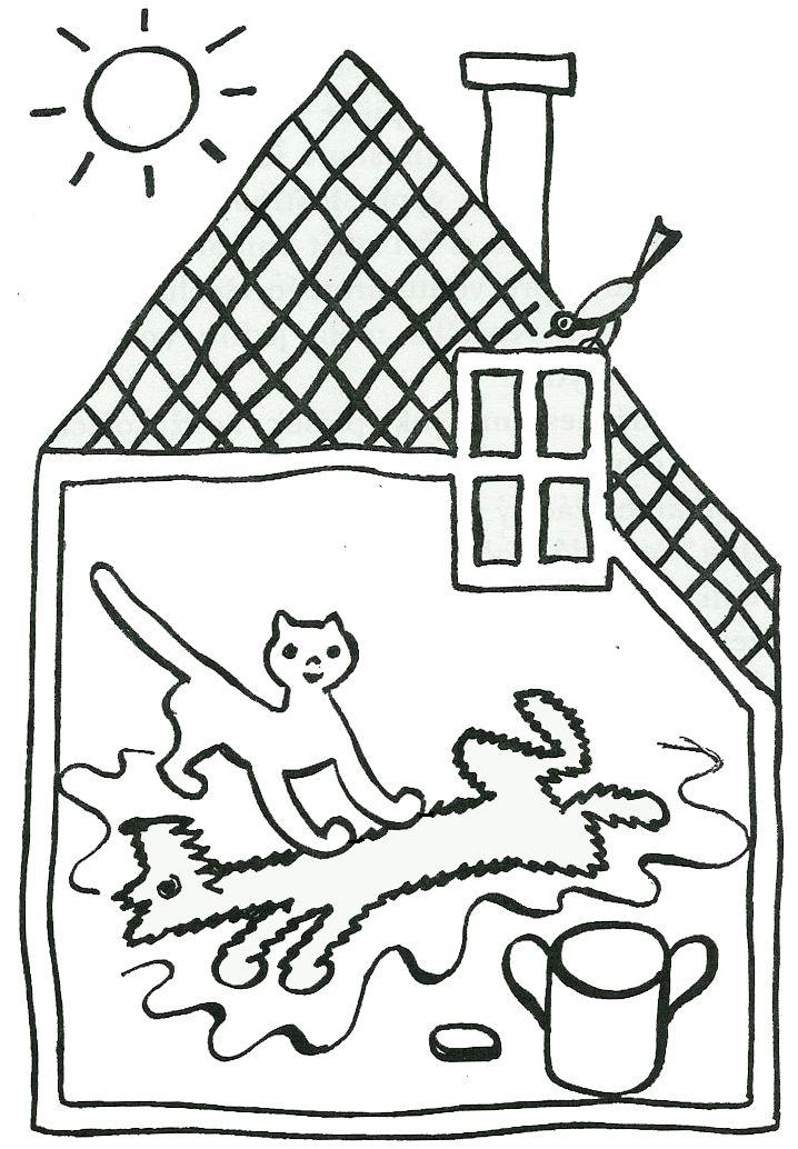 """""""O pejskovi a kočičce, jak si myli podlahu""""/""""O psíčkovi a mačičke, ako si umývali dlážku"""" :: Nové příběhy/Nové príbehy"""