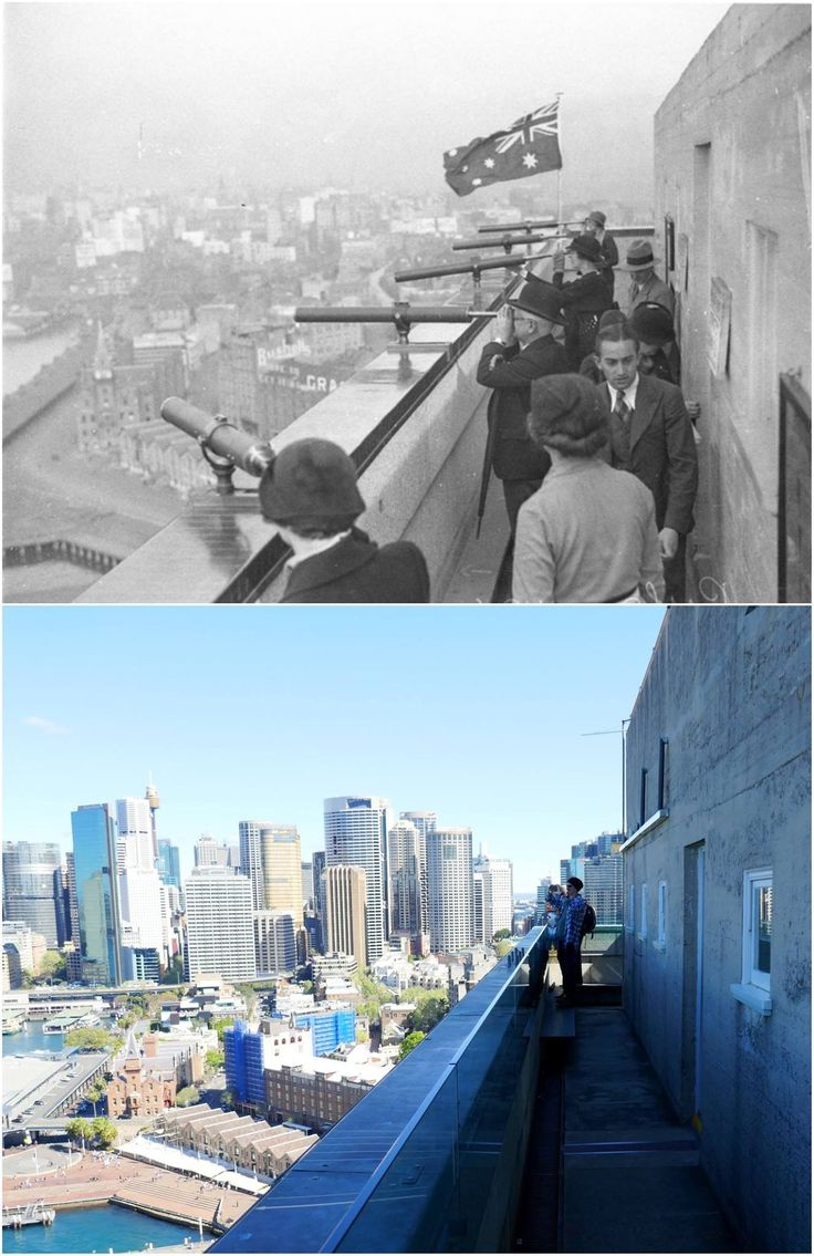 Pay per view telescopes attached to the South East pylon of the Sydney Harbour Bridge 1934 > 2016. [State Library NSW > Kevin Sundgren. By Kevin Sundgren]