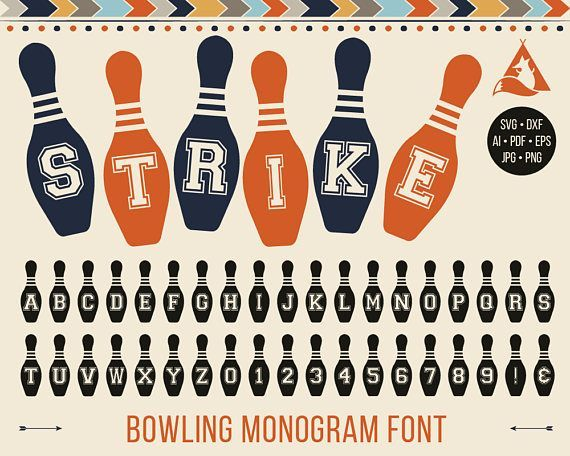 Download Bowling Font Svg Monogram, Bowling Pins with Letters Svg ...