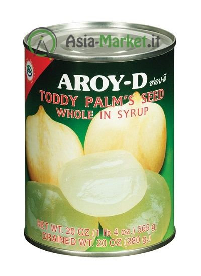 Frutti di palma (palm\'s seeds) interi in sciroppo - Aroy-d 565g
