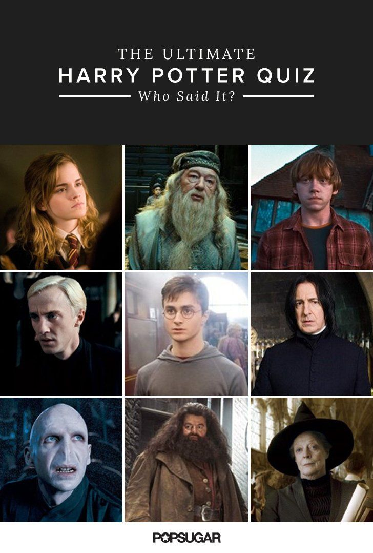 Who Said It? The Ultimate Harry Potter Quiz