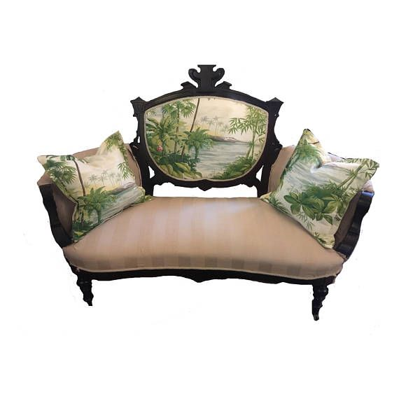 ON SALE Eastlake antique Victorian loveseat/settee/sofa new