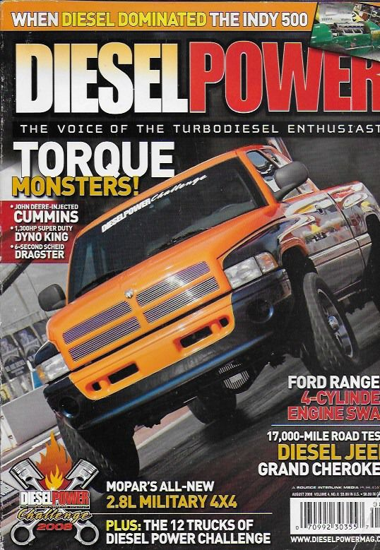 Diesel Power magazine Torque trucks Cummins Dyno King Jeep Ford Mopar military