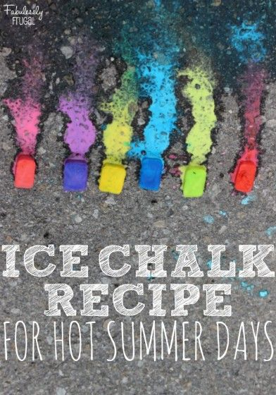 Kid's DIY Summer Ice Chalks: Summer can get pretty long especially those first few weeks when the kids are just out of school and we haven't settled into a summer routine.  I like to keep them busy with new activities that they can learn from and enjoy. We tried this ice chalk recipe and it was super fun especially on a hot day!  Frozen chalk makes a great art, science, and sensory experience all in one.