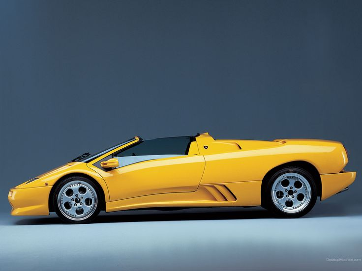 Lamborghini Diablo | Yellow Lamborghini Diablo Roadster Left Side 02
