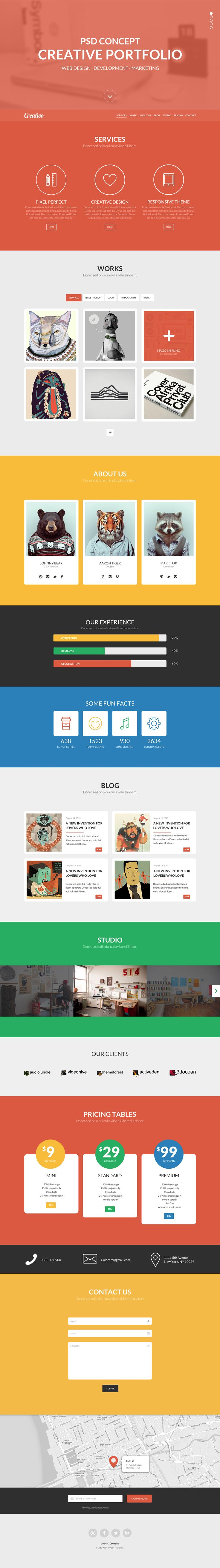 436 best psd templates images on pinterest cleanses an app and awesome colourful one page portfolio psd template design premium one page psd template available pronofoot35fo Gallery