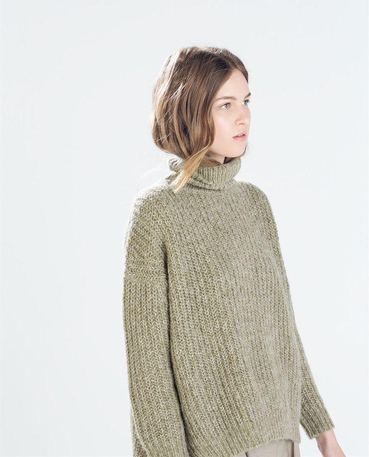 Image 2 de PULL CARRÉ MAILLE PERLÉE de Zara