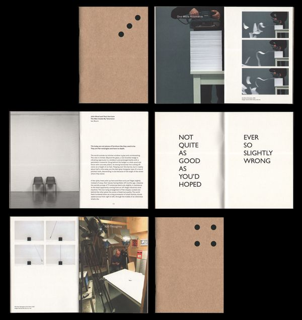 A couple of really nice updates from Leeds based Qubik including this exhibition catalogue for Carroll / Fletcher.