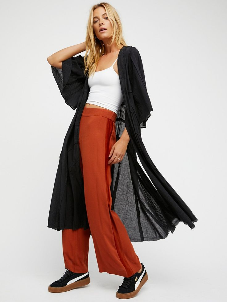 Curved Gauze Duster at Free People Clothing Boutique