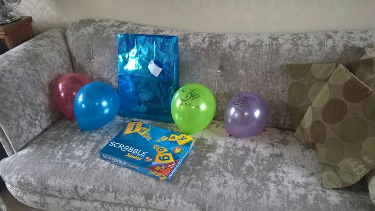 Love these Eid Mubarik balloons that I got online to decorate the house this Eid