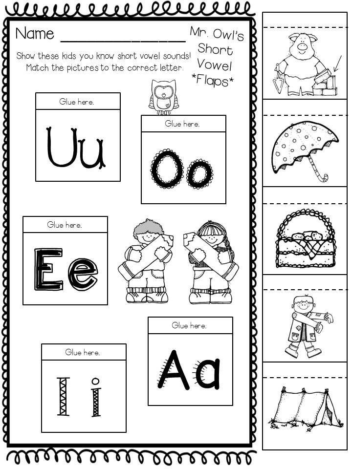 Kindergarten Long Vowel and Short Vowel Activities and Centers